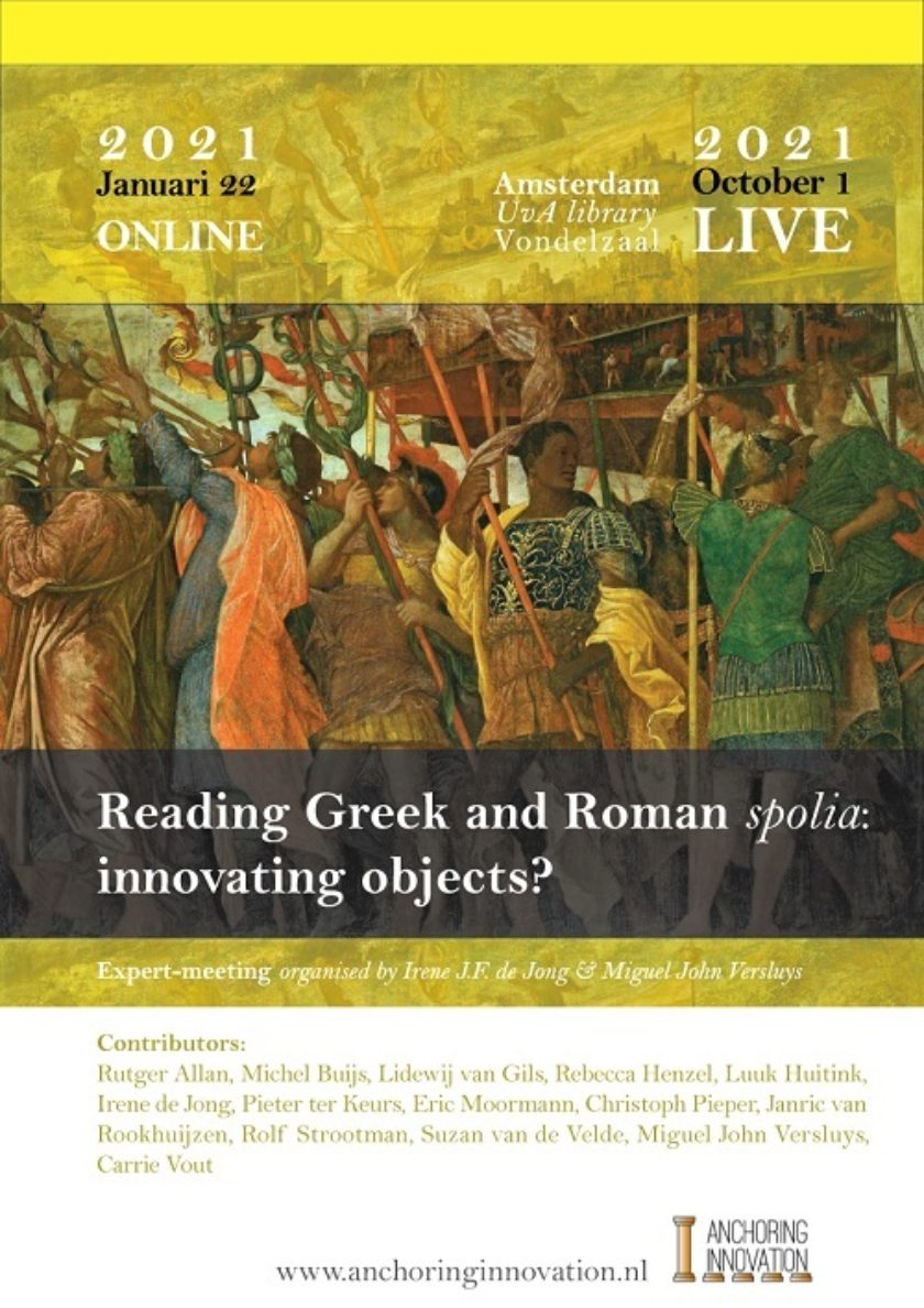 Innovating Objects? Reading Spolia in Greek and Latin Literature (closed meeting)